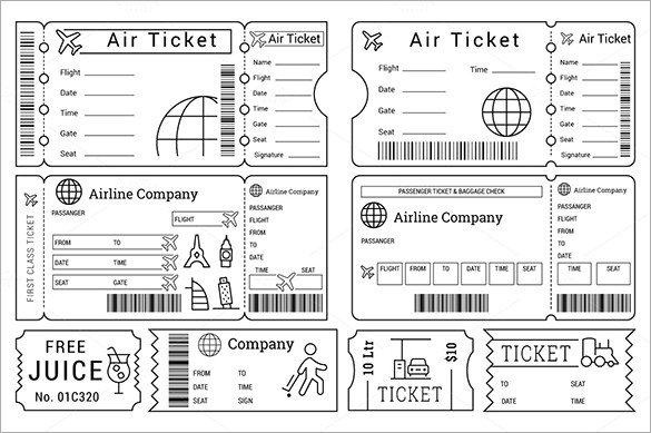 Free Printable Ticket Templates 115 Ticket Templates Word Excel Pdf Psd Eps