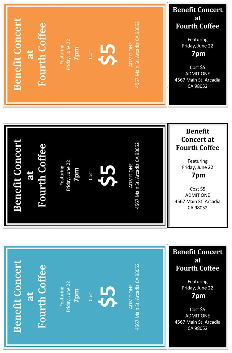 Free Printable Ticket Templates 12 Free event Ticket Templates for Word Make Your Own