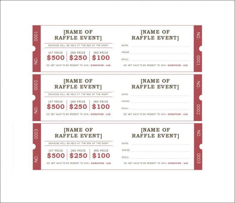 Free Printable Ticket Templates 19 Sample Printable Raffle Ticket Templates Psd Ai