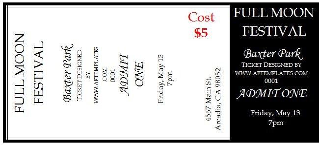 Free Printable Ticket Templates 40 Free Editable Raffle & Movie Ticket Templates