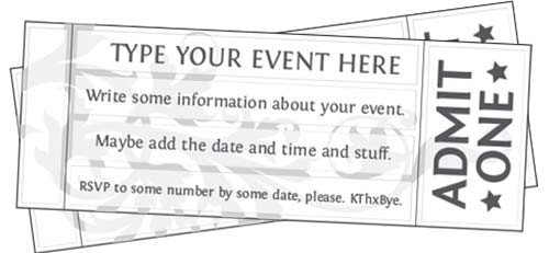 Free Printable Ticket Templates Free Printable event Ticket Templates