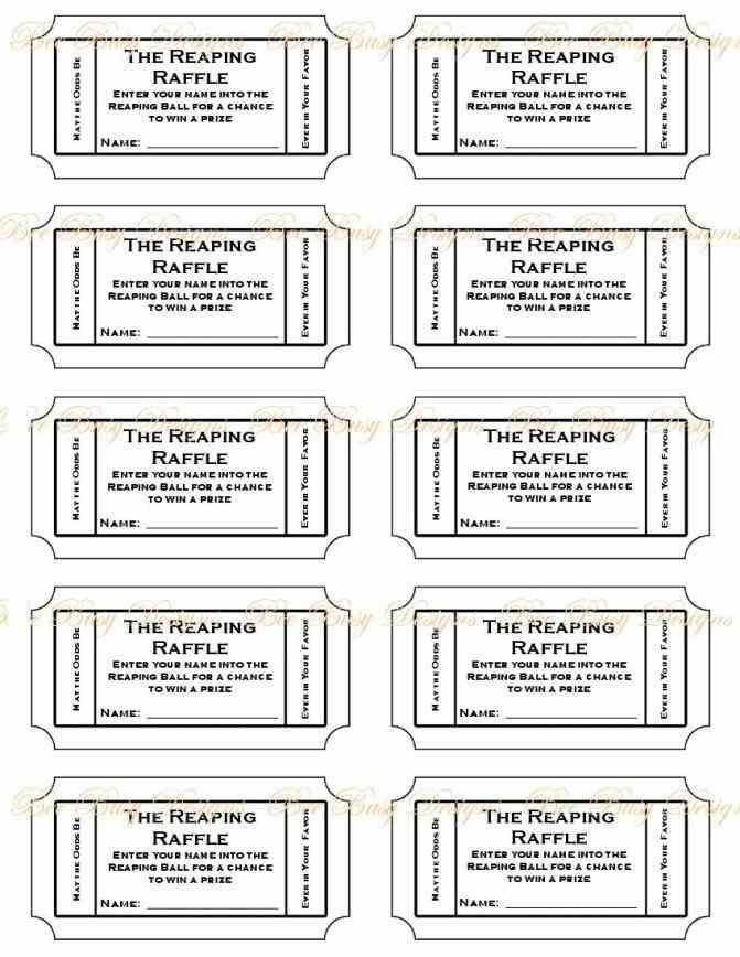 Free Printable Ticket Templates Free Printable Raffle Ticket Template Printable Numbered