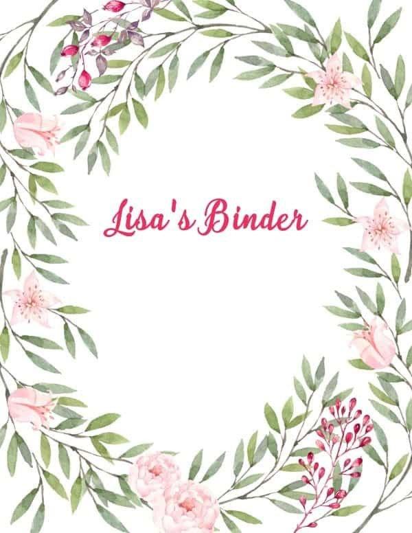 Free Printable Wedding Binder Templates Free Binder Cover Templates