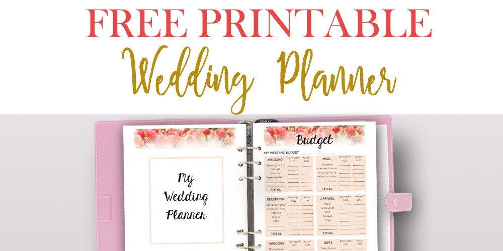 Free Printable Wedding Binder Templates Free Printable Wedding Planner for Wedding Binder