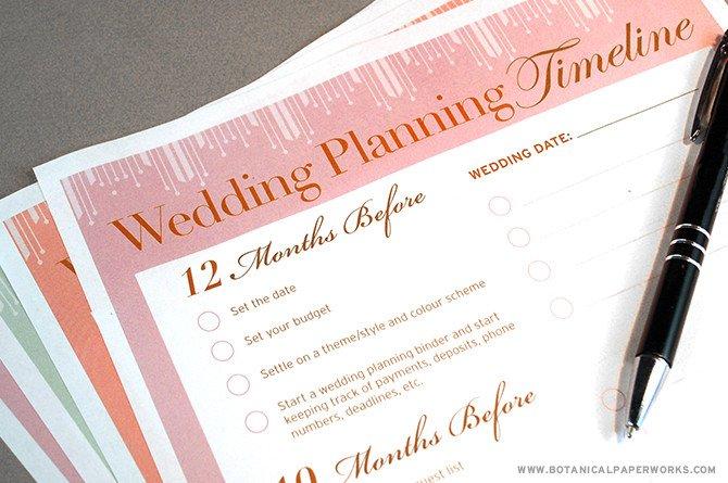 Free Printable Wedding Binder Templates Free Printable Wedding Planning Timeline
