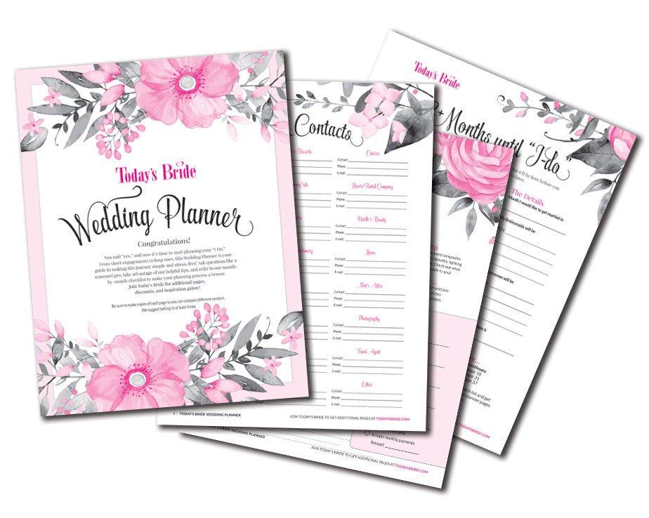 Free Printable Wedding Binder Templates today's Bride Printables