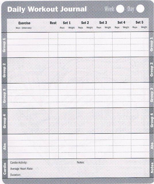 Free Printable Workout Log Workout Database Free Printable Workout Log
