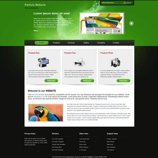 Free Professional Dreamweaver Templates 25 Free Dreamweaver Css Templates Available to Download
