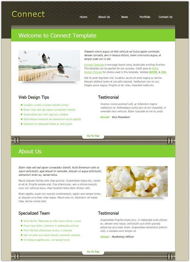 Free Professional Dreamweaver Templates 45 Best Free Dreamweaver Templates