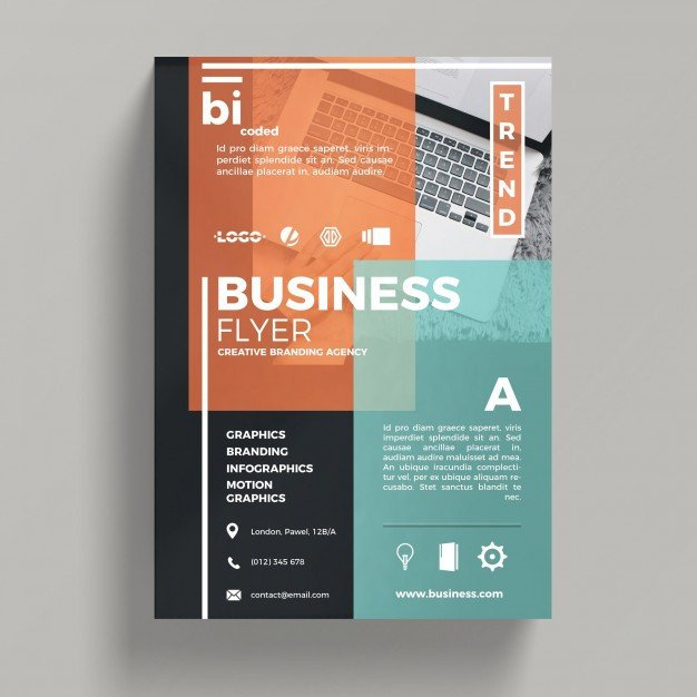 Free Psd Business Flyer Templates Abstract Corporate Business Flyer Template Psd File