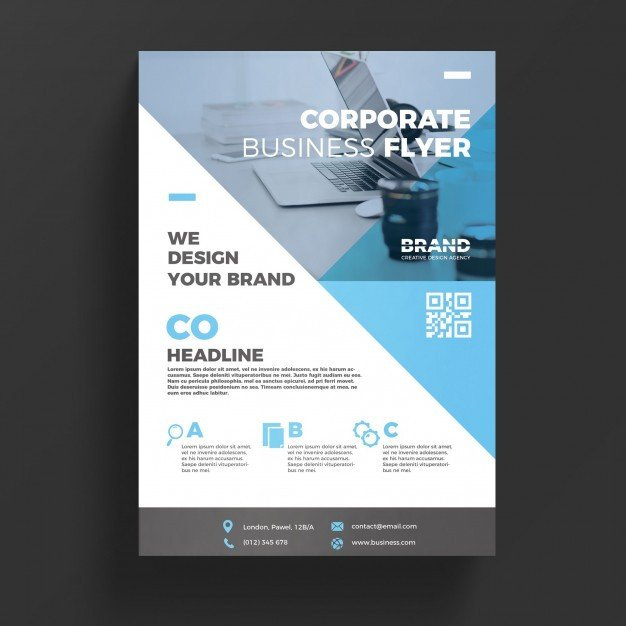 Free Psd Business Flyer Templates Blue Corporate Business Flyer Template Psd File