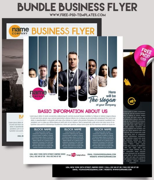 Free Psd Business Flyer Templates Business Flyer Brochure Templates In Psd