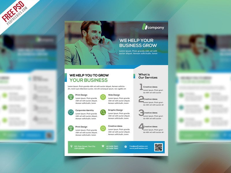 Free Psd Business Flyer Templates Clean Business Flyer Template Free Psd by Psd Freebies