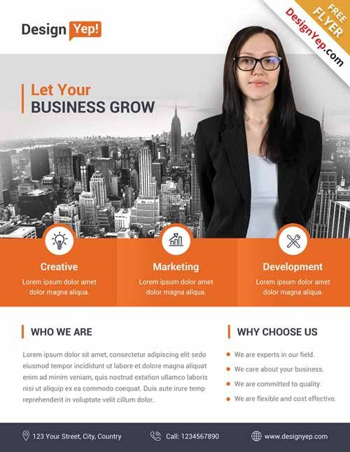 Free Psd Business Flyer Templates Download the Best Free Corporate Flyer Psd Flyer Templates