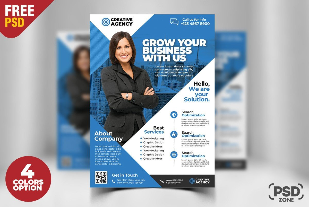 Free Psd Business Flyer Templates Free Business Flyer Psd Template Download Psd