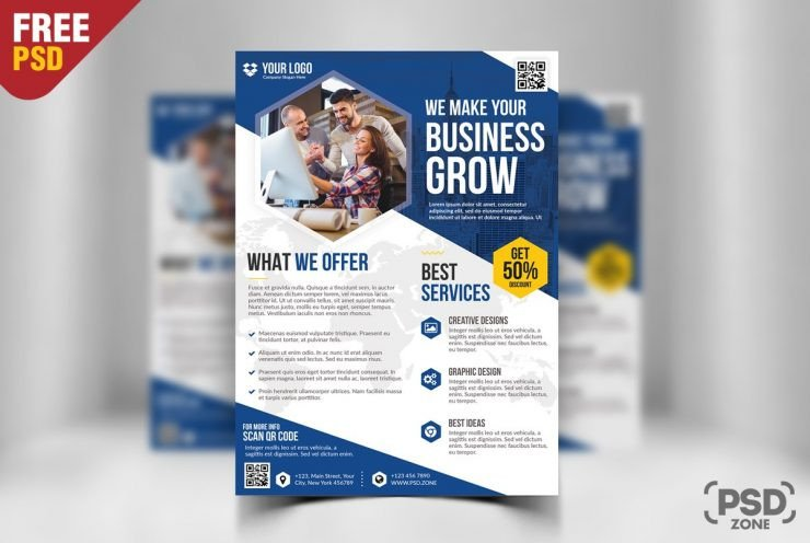 Free Psd Business Flyer Templates Free Business Flyer Template Psd Download Psd