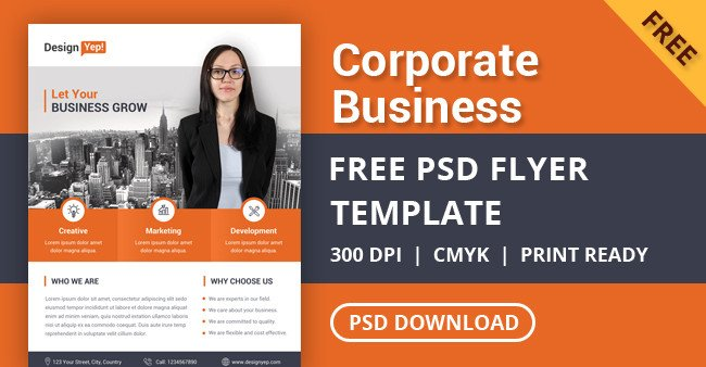Free Psd Business Flyer Templates Free Corporate Business Flyer Psd Template Designyep