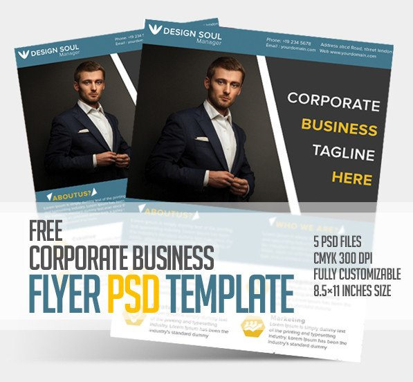 Free Psd Business Flyer Templates Free Corporate Business Flyer Psd Template