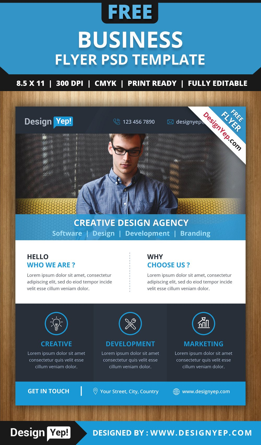 Free Psd Business Flyer Templates Free Download Business Flyer Psd Template Designyep