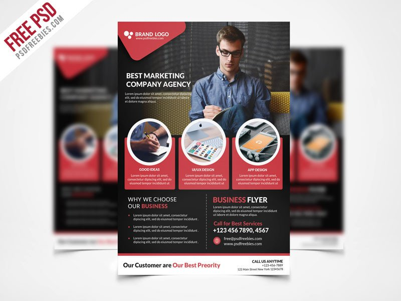 Free Psd Business Flyer Templates Free Psd Corporate Business Flyer Template Psd Freebie