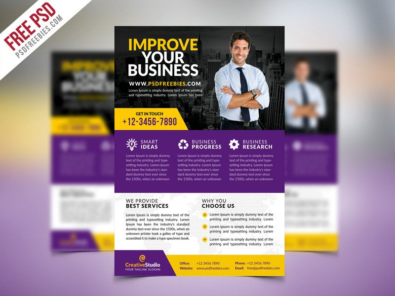 Free Psd Business Flyer Templates Free Psd Multipurpose Corporate Business Flyer Psd