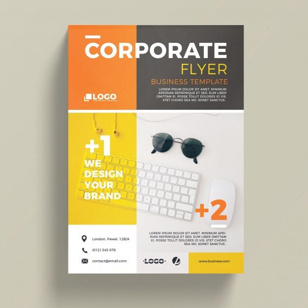 Free Psd Business Flyer Templates Modern Corporate Business Flyer Template Psd File