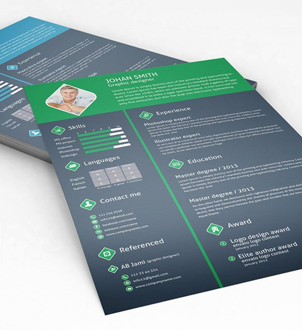 Free Psd Resume Templates 50 Beautiful Free Resume Cv Templates In Ai Indesign