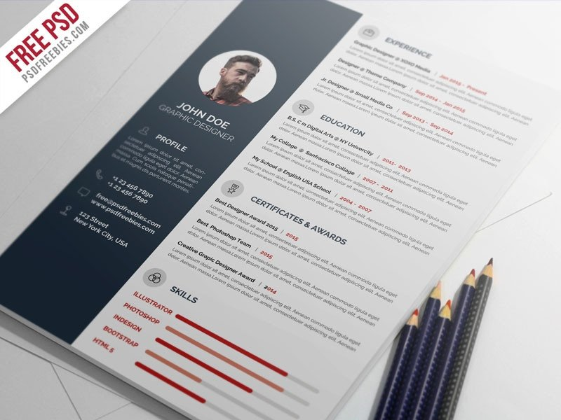 Free Psd Resume Templates 60 Free Graphic Designs Of December 2016