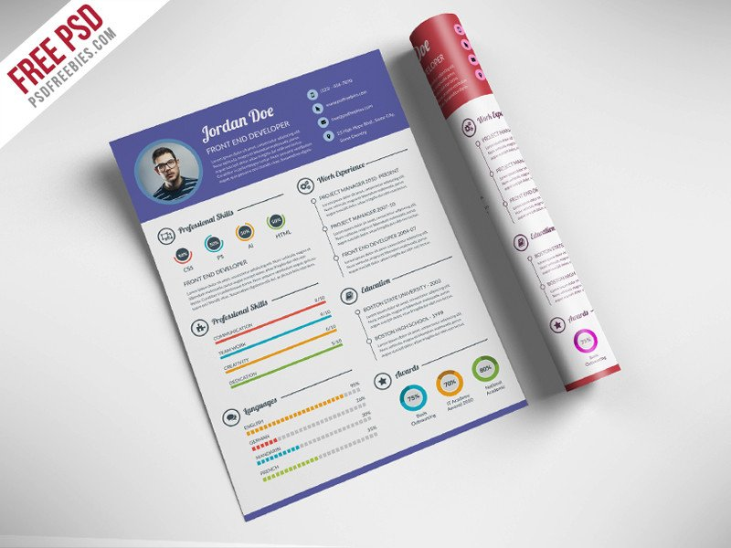 Free Psd Resume Templates Free Creative Resume for Web Designer Psd Psdfreebies