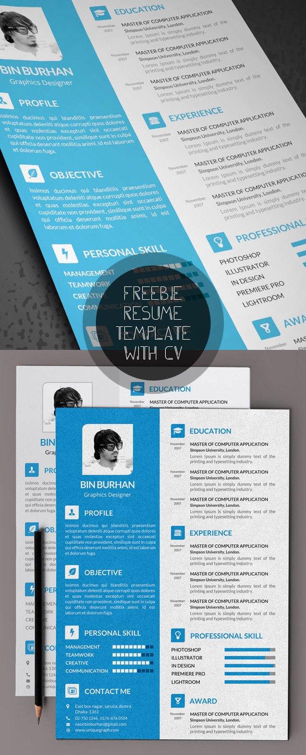 Free Psd Resume Templates Free Modern Resume Templates & Psd Mockups
