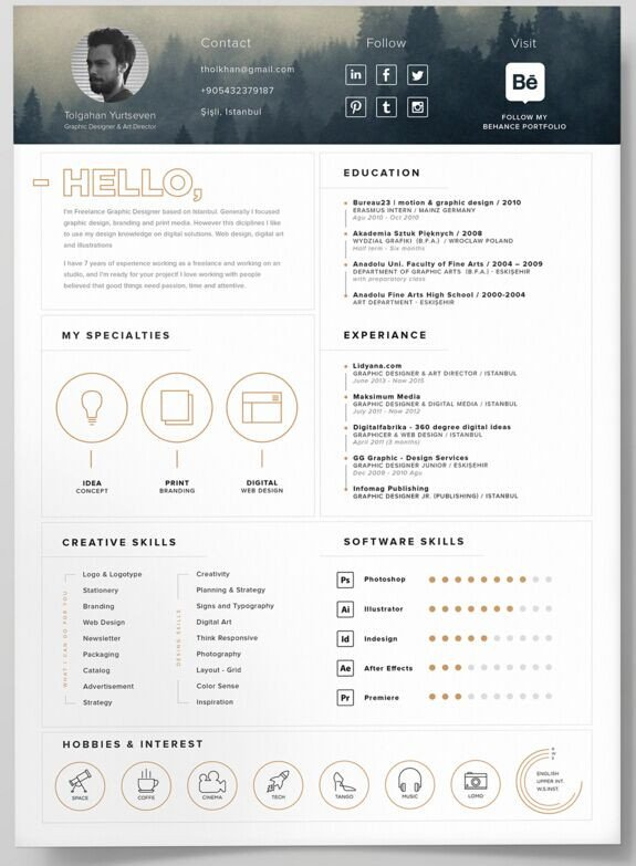 Free Psd Resume Templates Free Self Promotion Resume Template Psd Titanui