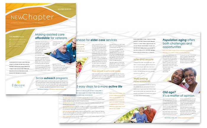 Free Publisher Newsletter Templates assisted Living Newsletter Template Design