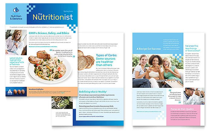 Free Publisher Newsletter Templates Dietitian Newsletter Template Word & Publisher