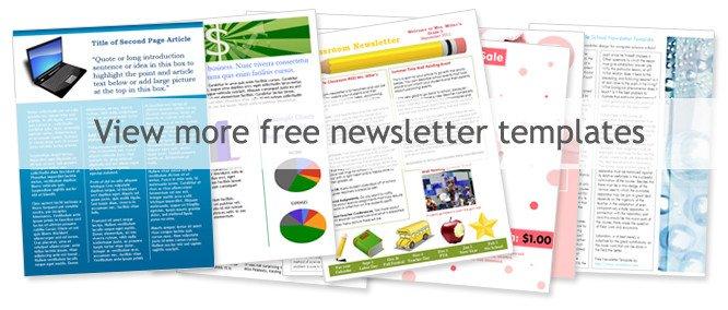 Free Publisher Newsletter Templates Newsletter Template Free Download Publisher