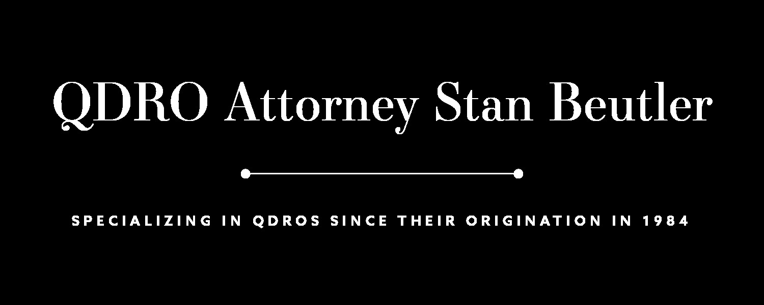 Free Qdro form Download Home Stan Beutler Esq
