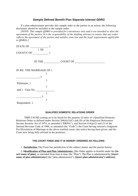 Free Qdro form Download top 10 Qdro form Templates Free to In Pdf format