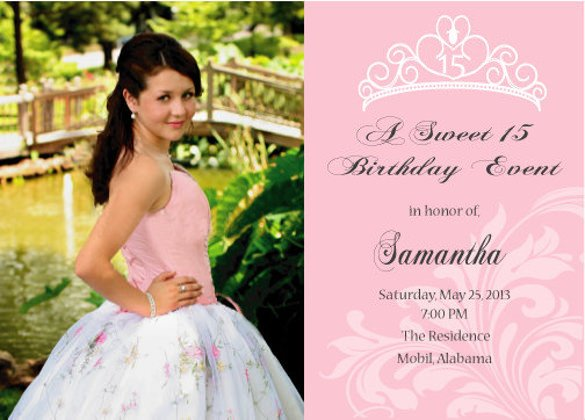 Free Quinceanera Invitation Templates 28 Quinceanera Invitations Templates Psd Vector Eps