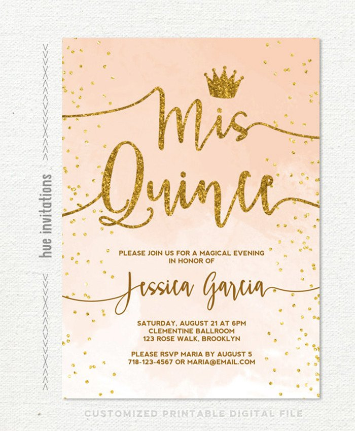 Free Quinceanera Invitation Templates 35 Beautiful and Unique Quinceanera Invitations Templates
