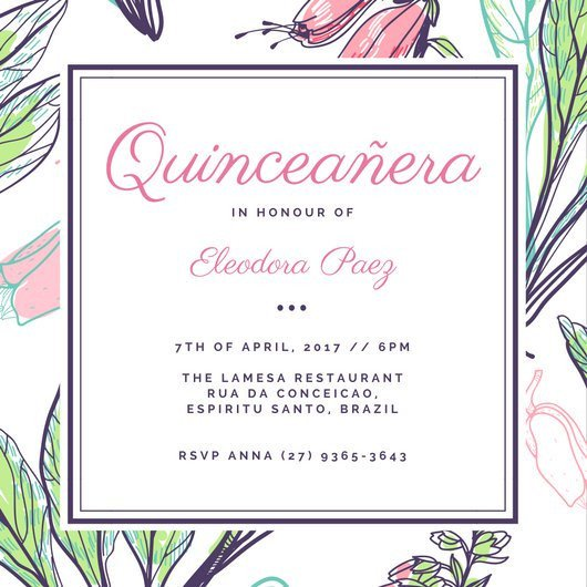 Free Quinceanera Invitation Templates Customize 43 Quinceanera Invitation Templates Online Canva