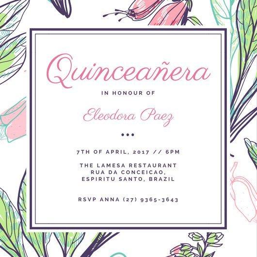 Free Quinceanera Invitation Templates Customize 43 Quinceanera Invitation Templates Online Canva