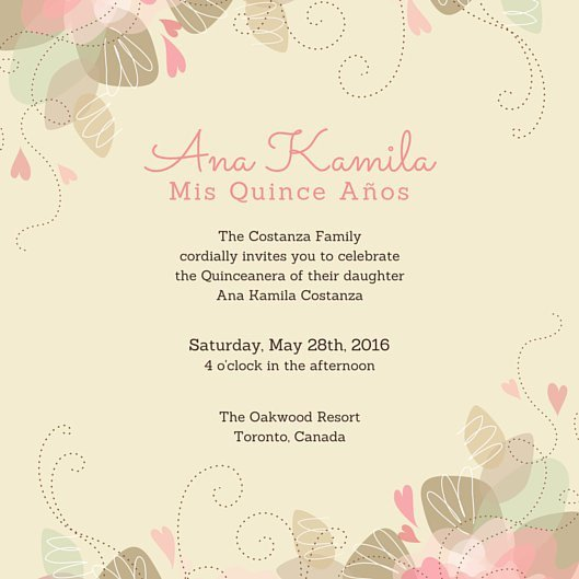 Free Quinceanera Invitation Templates Customize 45 Quinceanera Invitation Templates Online Canva