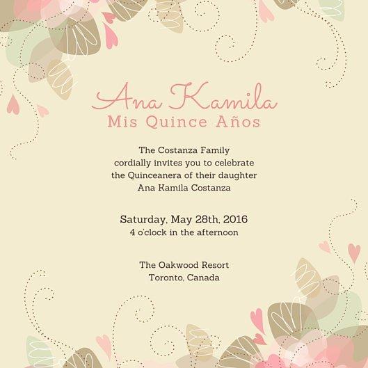 Free Quinceanera Invitation Templates Customize 45 Quinceanera Invitation Templates Online Canva