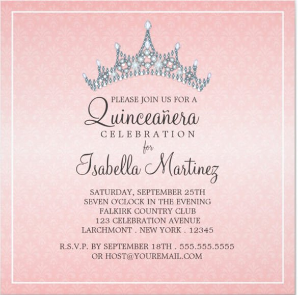 Free Quinceanera Invitation Templates Free Printable Quinceanera Invitation Templates