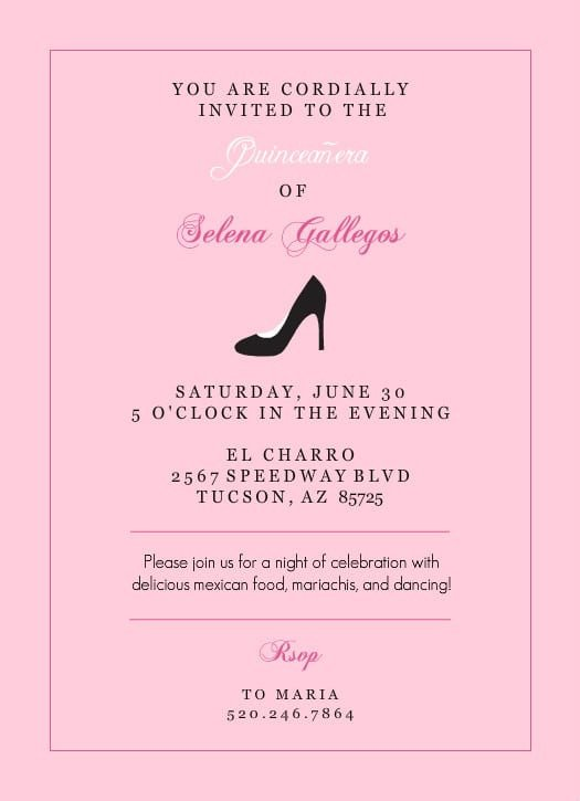 Free Quinceanera Invitation Templates Free Quinceanera Invitation Print