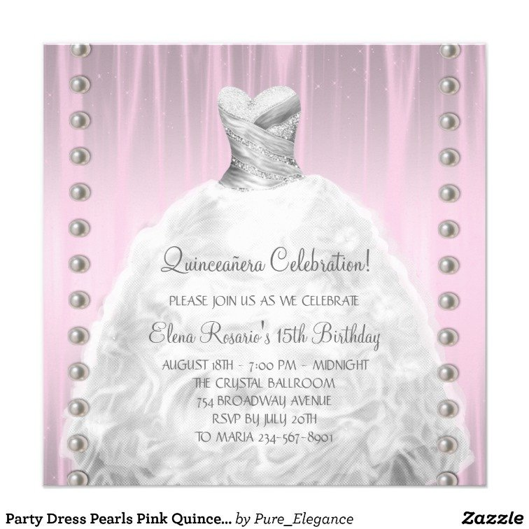 Free Quinceanera Invitation Templates Invitation Template This Beautiful Pink Quinceanera