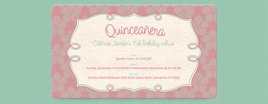 Free Quinceanera Invitation Templates Quinceañera Free Online Invitations