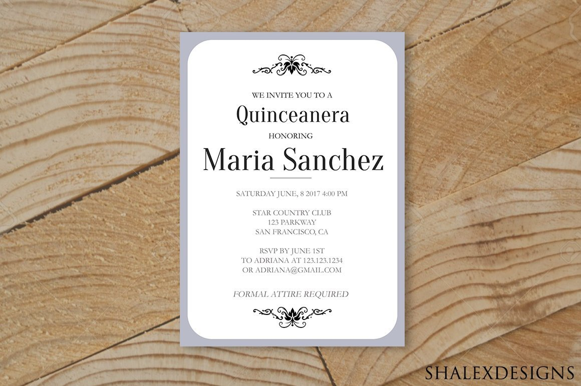 Free Quinceanera Invitation Templates Quinceanera Invitation Template Invitation Templates