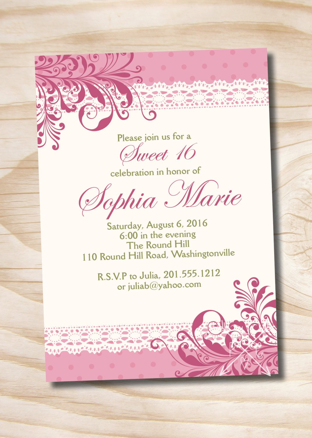 Free Quinceanera Invitation Templates Shabby Chic Sweet 16 Birthday Quinceanera Invitation