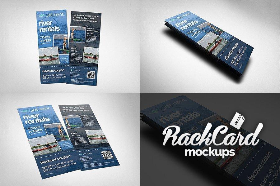 Free Rack Card Mockup Rack Card Mockups Pack Product Mockups Creative Market