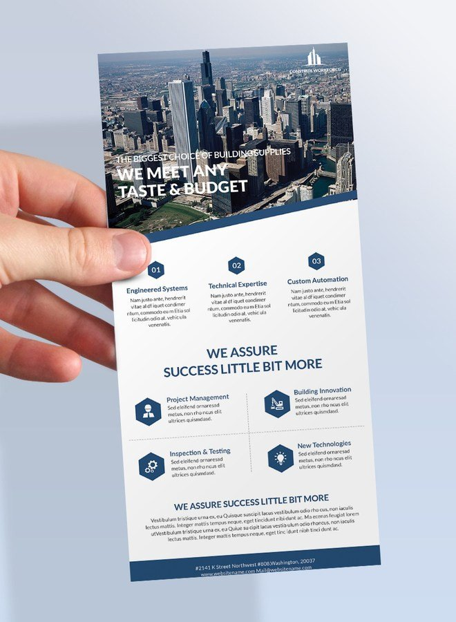 Free Rack Card Mockup Rack Card Psd Mockup Template Download for Free